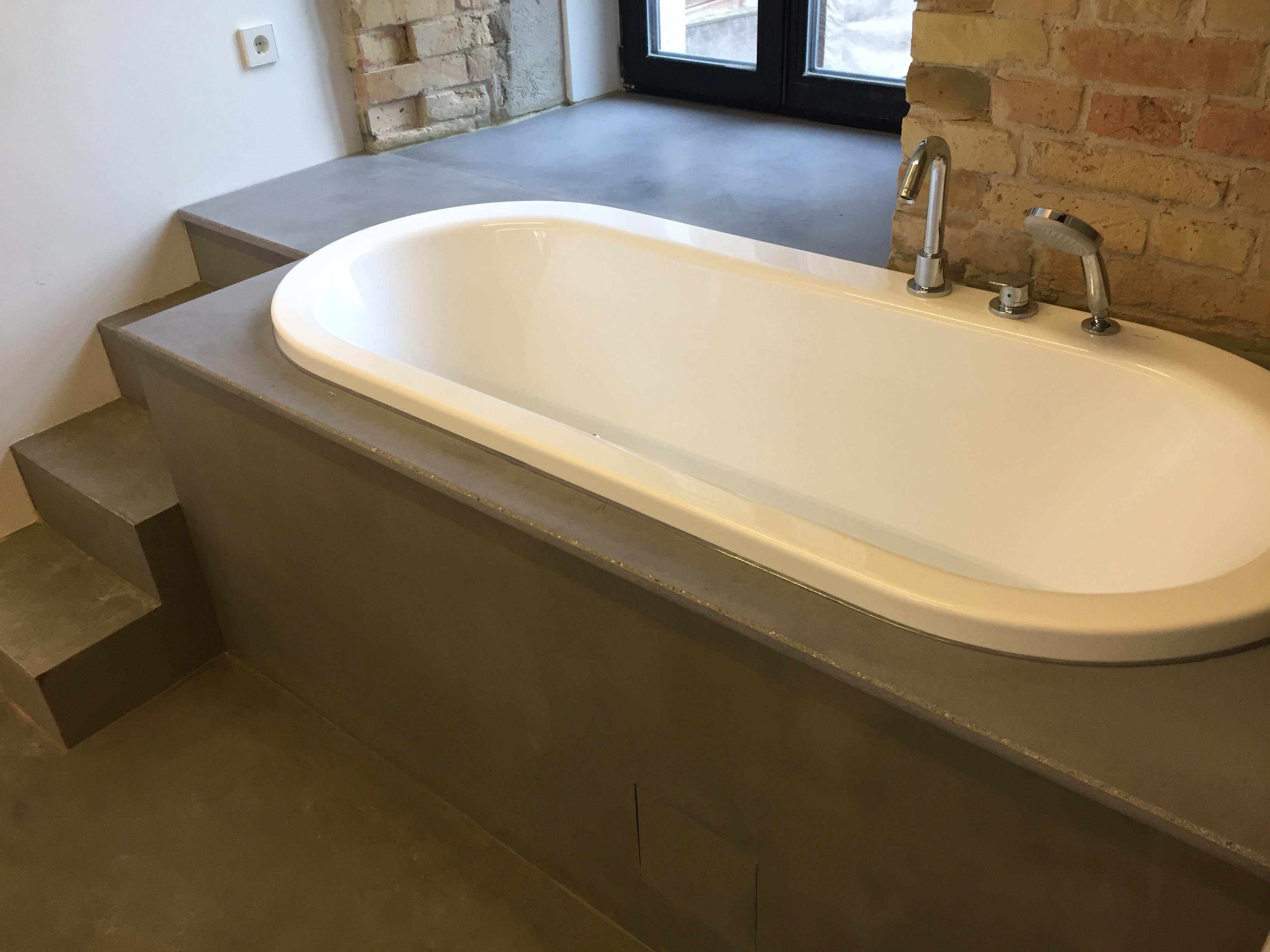 Betoninė vonios apdaila Storis - 20mm Paviršius natūralus, impregnuotas