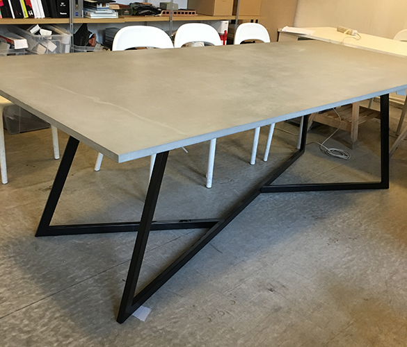 Concrete table Tabletop Hibeton 3000x1000x20mm Surface - natural, sealed Legs -  painted steel